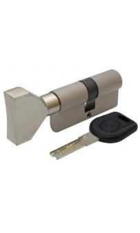 Цилиндр дверной Вruno Security 30/30мм лаз. 60мм 5кл плоск. повор. никель