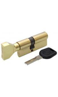 Цилиндр дверной Вruno Security 30/40мм лаз. 70мм 5кл плоск. повор. латунь