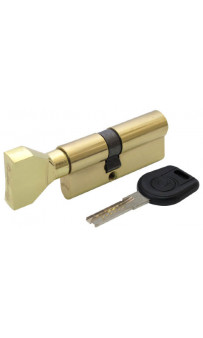 Цилиндр дверной Вruno Security 35/35мм лаз. 70мм 5кл плоск. повор. латунь