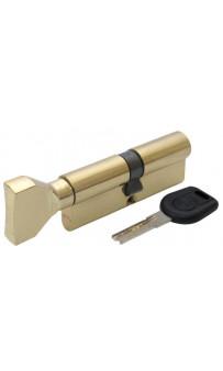 Цилиндр дверной Вruno Security 40/40мм лаз. 80мм 5кл плоск. повор. латунь