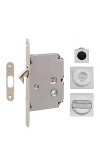 Ручка на раздвижную дверь Fimet 3667R, матовый хром (комплект wc)
