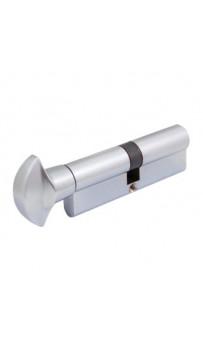 Цилиндр Securemme 3100PCS40401X5 К1, 40/40 мм, 5ключей, поворотник, монтажный ключ, матовый хром