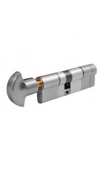 Цилиндр Securemme 361PCS4040115 K64 40/40 мм 5кл +1 монтажный ключ/ручка матовый хром
