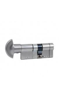 Цилиндр Securemme 361PCS4050115 K64 40/50 мм 5кл +1 монтажный ключ/ручка матовый хром