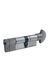 Цилиндр Securemme 3220PCS35551X5 К22, 35/55 мм, 5ключей,монтажный ключ/ручка, матовый хром