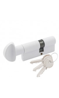 Цилиндр Cortelezzi 117F 30x30 ключ/поворот. белый