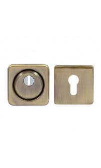 Броненакладка Protect 18mm c кольцом квадратная AB ант латунь
