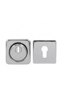 Броненакладка Protect 18mm c кольцом квадратная CP хром