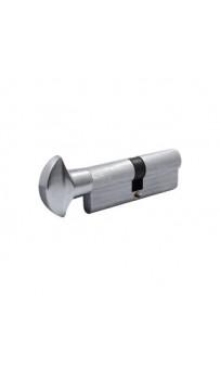 Цилиндр Securemme 3200PCS40401X5 К2 40/40 мм 5кл +1 монтажный ключ/ручка, матовый хром