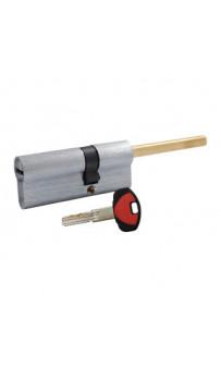 Цилиндр Securemme 3200QCS30451X5 К2 30/45 мм 5кл +1 монтажный ключ, со штоком, матовый хром