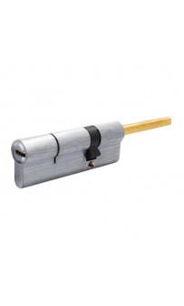 Цилиндр Securemme 3200QCS30601X5 К2 30/60 мм 5кл +1 монтажный ключ, со штоком, матовый хром