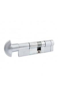 Цилиндр Securemme 3220PCS50401X5 К22 50/40 мм 5кл +1 монтажный ключ/ручка мат.хром