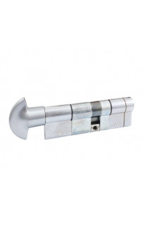 Цилиндр Securemme 361BPCS5040115 K64 50/40 мм 5кл +1 ключ/ручка мат.хром